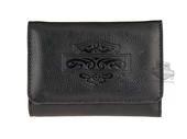 Harley-Davidson® Womens Celtic Bar & Shield Black Leather Wallet by LODIS