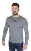 Harley-Davidson® Mens Metal Area Trademark B&S Mesh Piecing Grey Long Sleeve T-Shirt