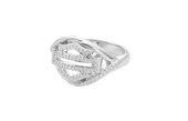 ** SMALL & BIG SIZES ONLY ** Harley-Davidson® .925 Silver Forever H-D® Genuine Diamonds Twist Ring by Mod Jewelry *48H1*