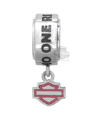 Harley-Davidson® .925 Silver H-D Pink Label NO ONE RIDES ALONE Ride Bead