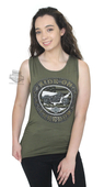 Harley-Davidson® Womens Ride On Freedom Flag with Motorcycle Green Sleeveless Tank by FCP Brands, Inc.