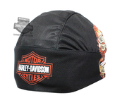 Harley-Davidson® Mens Live To Ride Eagle with B&S Sublimated Black Polyester Headwrap