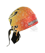 Harley-Davidson® Mens Paisley Works Sublimated Yellow Polyester Headwrap *CYB*