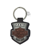 Harley-Davidson® 115th Anniversary Font Leather FOB Keychain