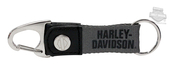 Harley-Davidson® H-D Snap Clip with Canvas Strap Grey Keychain