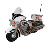 Harley-Davidson® Buildex® Police Cruiser Construction Kit