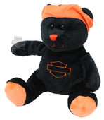 Harley-Davidson® Classic B&S Bears with Phrases Black Bean Bag *CYB*