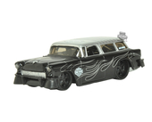 Harley-Davidson® 1955 Chevy® Nomad™ with Pinstripe Flames Matte Black Model 1:64 Scale
