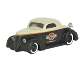 Harley-Davidson® 1936 Ford Coupe with Trademark B&S Logo Matte Black Model 1:64 Scale