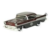 Harley-Davidson® 1957 Chevy® Bel Air® with B&S Metal Flake Red Model 1:64 Scale