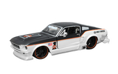 Harley-Davidson® 1967 Ford Mustang GT Two Tone Black & White with #1 B&S Logo Various Model Car 1:24 Scale