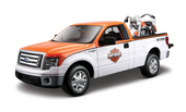 Harley-Davidson® 2010 Ford F-150 STX Orange Top with White Sides + 1958 FLH Duo Glide™