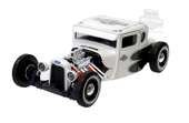 Harley-Davidson® 1929 Ford Model A White with Black & Silver Graphics Hot Rod White Model Car 1:24 Scale