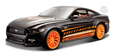 Harley-Davidson® 2015 Ford Mustang GT B&S with Orange Rims Black 1:24 Scale Model Car 1:24 Scale
