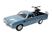 Harley-Davidson® 2007 XL 1200N Nightster® + 1965 Chevrolet® El Camino™ Blue 1:27 Scale Model Truck and Bike Set 1:27 Scale