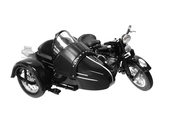 Harley-Davidson® 1948 FL Panhead® Side-Car™ Black 1:18 Scale Model 1:18 Scale