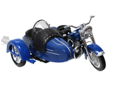 Harley-Davidson® 1953 FL Hydra Glide® Side-Car™ Blue 1:18 Scale Model 1:18 Scale
