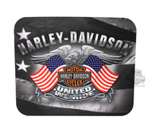 Harley-Davidson® United We Ride Eagle B&S with Flags Neoprene Mousepad