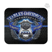 Harley-Davidson® Mens Police Original Diamond Plate Neoprene Black Mousepad