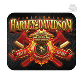 Harley-Davidson® Mens Firefighter Original Diamond Plate Neoprene Black Mousepad