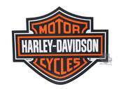 Harley-Davidson® Mouse Pad Orange B&S Die Cut