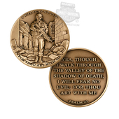 Medallion I Will Fear No Evil Psalm 23 1 3/4