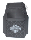 Harley-Davidson® Set of 2 Trim-To-Fit Silver B&S Front Floor Mats