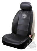 Harley-Davidson® Seat Cover Sideless Black with Willie G Skull Logo - Single