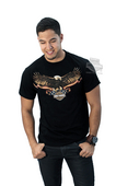 ** SIZE X-LARGE ONLY ** Harley-Davidson® Mens Eagle Banner U.S. Flag Black Short Sleeve T-Shirt *1DY*