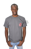 ** SIZE SMALL & LARGE ONLY ** Harley-Davidson® Mens Rules Circle Trademark B&S Pocket Grey Short Sleeve T-Shirt