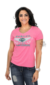 ** SMALL SIZES ONLY ** Harley-Davidson® Womens Racy Wings B&S X-Temp Neon Pink Short Sleeve T-Shirt