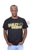 ** SIZE LARGE ONLY ** Harley-Davidson® Mens Early H-D B&S Black Short Sleeve T-Shirt *40th*
