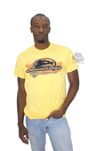 Harley-Davidson® Mens Flames Screamin Eagle Lightweight Yellow Short Sleeve T-Shirt