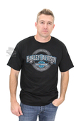 ** SIZE LARGE ONLY ** Harley-Davidson® Mens Irreplaceable Trademark B&S Black Short Sleeve T-Shirt