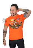 ** LARGE & X-LARGE ONLY ** Harley-Davidson® Mens WB Speedy Ride Flames Orange Short Sleeve T-Shirt