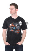 ** LARGE & X-LARGE ONLY ** Harley-Davidson® Mens WB Angry Sam Mineral Wash Black Short Sleeve T-Shirt