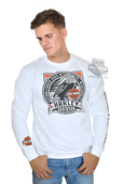 Harley-Davidson® Mens Noble Label Eagle B&S White Long Sleeve T-Shirt