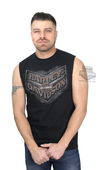 Harley-Davidson® Mens Scrap Metal Plate with B&S Black Sleeveless Muscle T-Shirt