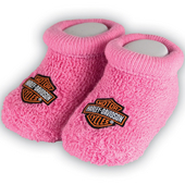 Harley-Davidson® Girls Baby Booties Boxed Pink