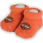 Harley-Davidson® Unisex Baby Booties Boxed Orange