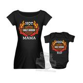 Harley-Davidson® Baby Mommy & Me Flaming B&S