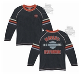 Harley-Davidson® Boys Youth HDMC B&S with Contrast Stitching Black Long Sleeve Thermal