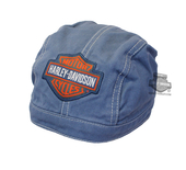 Harley-Davidson® Boys Baby B&S Colored Denim Doo Rag Denim *KIDW*