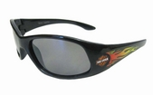 Harley-Davidson® Boys Youth Sunglasses Black with Orange B&S with Flames SG1380356