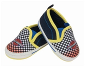Harley-Davidson® Boys Baby Trademark B&S Checkered Print Skate Shoes Pre-Walkers