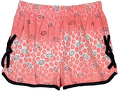 ** BIG GIRLS SIZES ** Harley-Davidson® Girls Youth Shorts With Mock Side Laces Pink