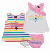 Harley-Davidson® Girls Baby Twin Pack Rainbow Glitter Print Sundress with Panty Set