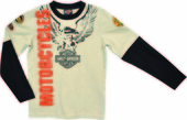 Harley-Davidson® Boys Youth Eagle with B&S Doubler Khaki Long Sleeve T-Shirt