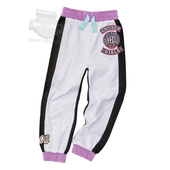 Harley-Davidson® Girls Youth Glitter Print with Patches French Terry White Jog Pant