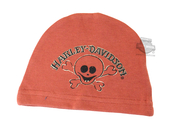 Harley-Davidson® Boys Baby Little Rebel Skull Interlock Beanie Orange *CIJ*